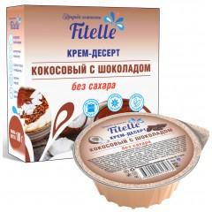 Крем-десерт 100г.  (коробка) Кокосовый с шоколадом 1/18