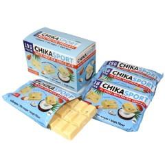 Белый шоколад с миндалем и кокосовыми чипсами 100г