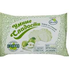 Зефир «Умные сладости» со стевией, со вкусом зеленого яблока, 150г