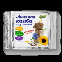 Халва льняная с подсолнечником на фруктозе 250 г (Без сахара)