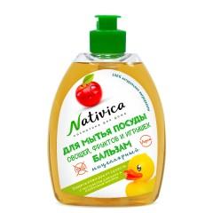 """Nativica мицеллярный бальзам для мытья посуды """"Защита кожи рук от сухости"""" 400 мл"""
