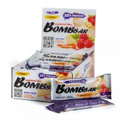BOMBBAR протеиновый батончик 60 гр (малиновый чизкейк) шт