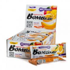 Батончик BOMBBAR протейновый 60гр.Банан-манго 1/20