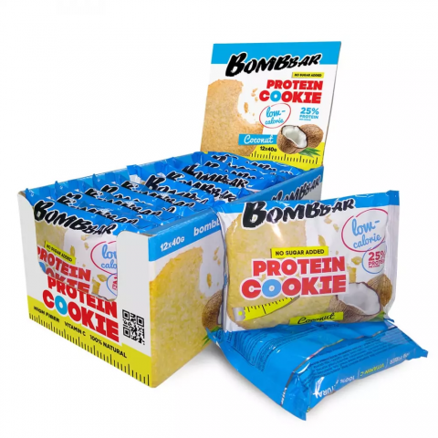 BOMBBAR протеиновое печенье 40 гр (кокос) шт