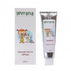 Паста зубная детская LEVRANA Череда гелевая (50мл)