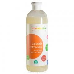 Гель для мытья полов FreshBubble Свежий апельсин (1л)